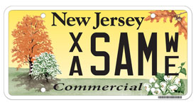 commercial vehicle plate